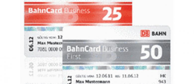 Business Bahncard: 50 und 25 mit Firmenkundenrabatt